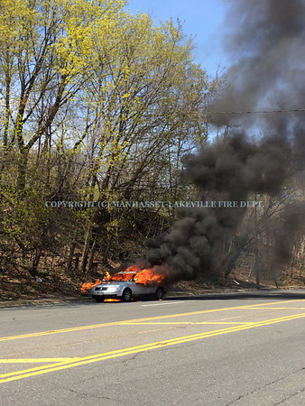 M-LFD Co.'s 2 & 3 Extinguish Fully-Involved Vehicle on Community Drive