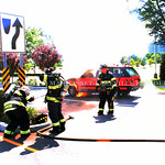 July 5th, 2014 - 1111 Marcus Avenue [Vehicle Fire]