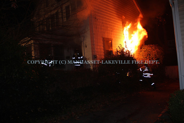 Manhasset-Lakeville F.D. Extinguishes Election Day House Fire