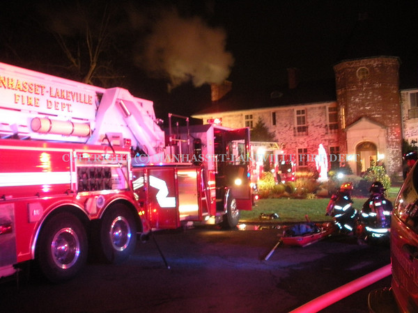Manhasset-Lakeville F.D. Extinguishes New Year's Day Basement Fire