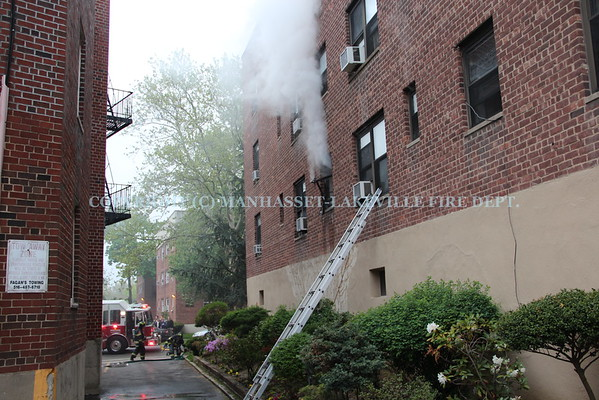 Manhasset-Lakeville F.D. Extinguishes Apartment Fire In Great Neck Plaza