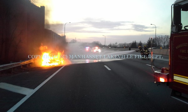Manhasset-Lakeville Extinguishes Rush Hour Car Fire on the LIE